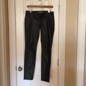 Sleek' Straight Leg Stretch Black Pants.